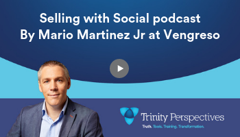 Vengreso Selling with Social podcast, featuring Cian McLoughlin